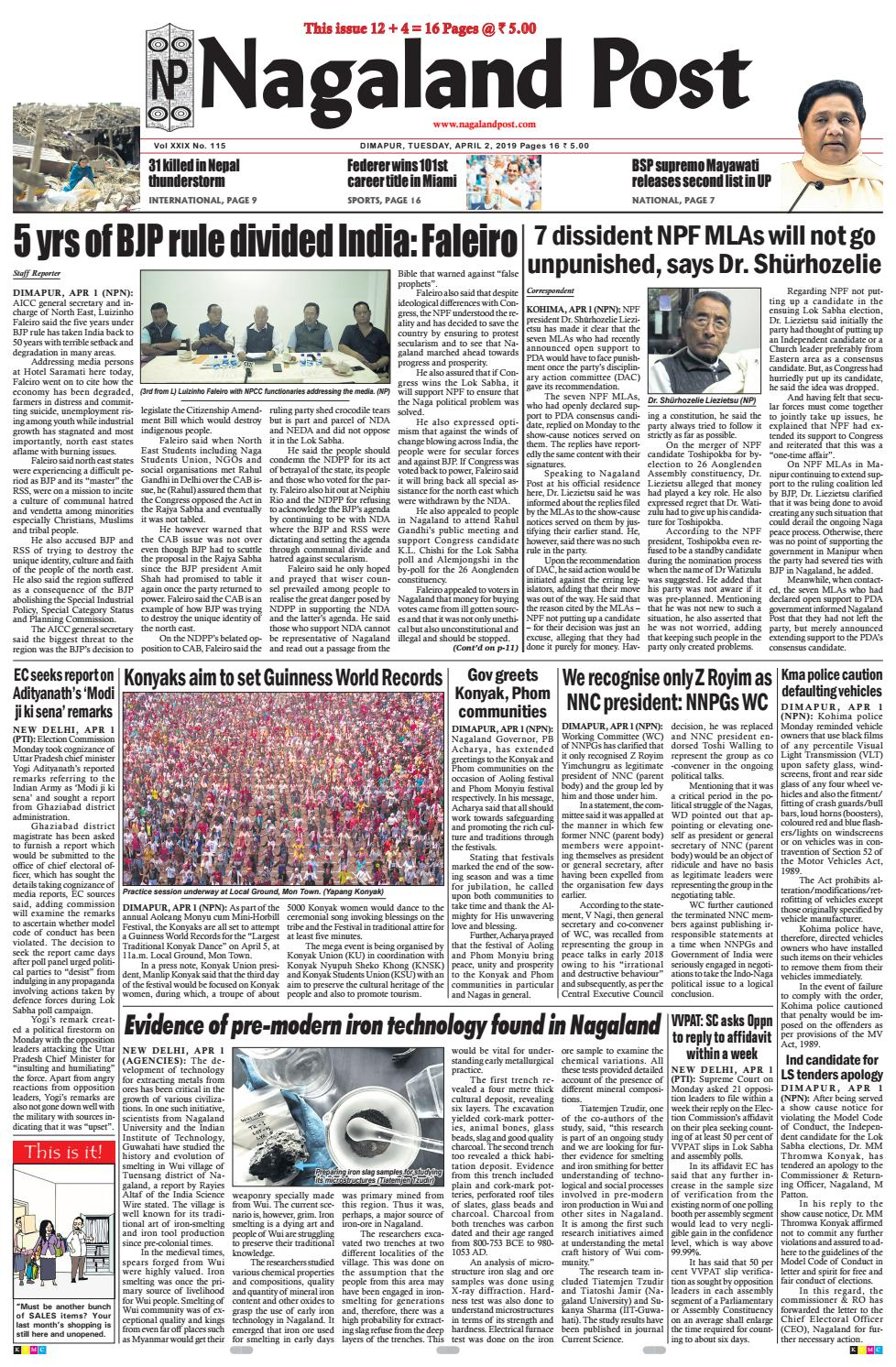 April 2, 2019 by Nagaland Post - issuu