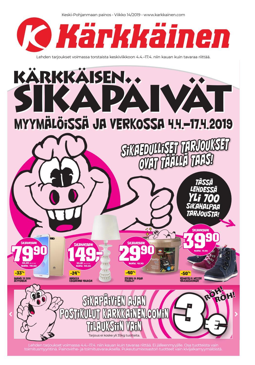 pretty nice info for best prices Kärkkäisen mainos (14/2019) (K-P) by Tavaratalo J. Kärkkäinen Oy ...