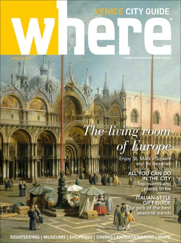 d0ad1923214f4 Where Magazine Venice Apr 2019 by Morris Media Network - issuu