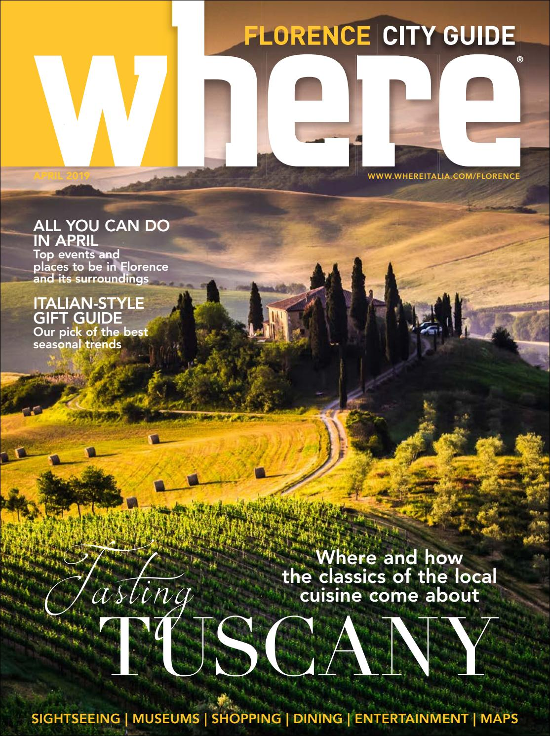 bfd95d12f94 Where Magazine Florence Apr 2019 by Morris Media Network - issuu