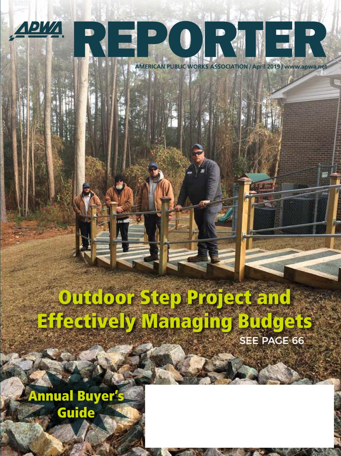 APWA Reporter, April 2019 issue by American Public Works Association