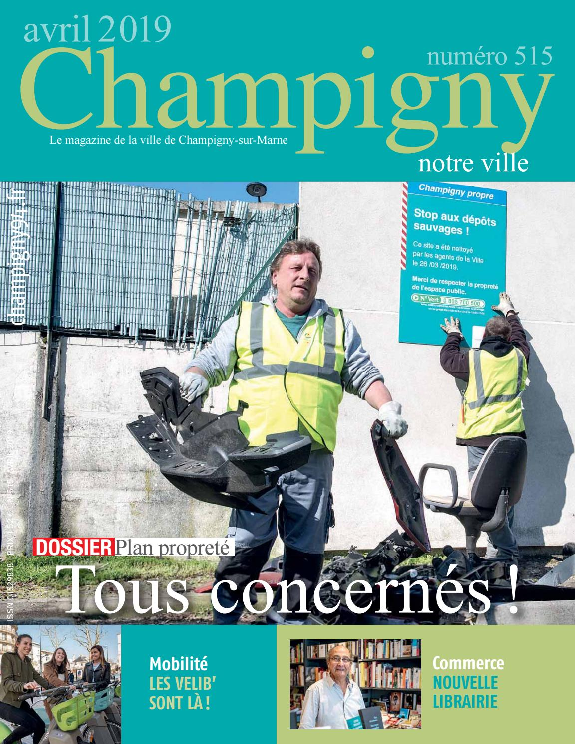 eaef4f6bcad Champigny notre Ville n°515 - avril 2019 by N R - issuu