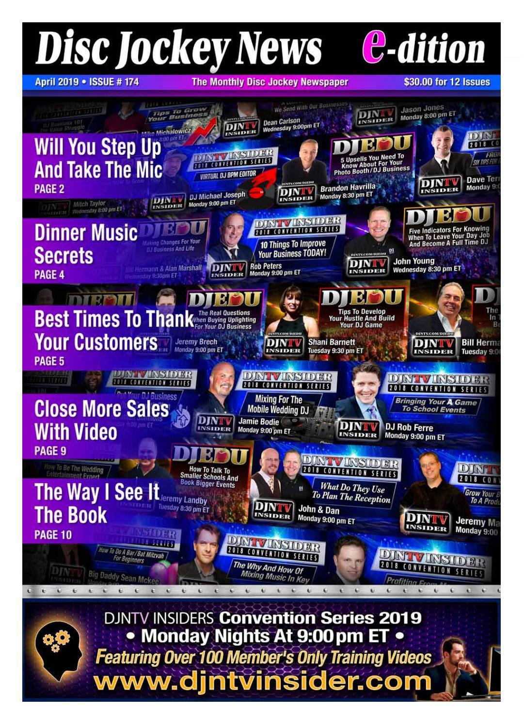 April 2019 Disc Jockey News by Disc Jockey News - issuu