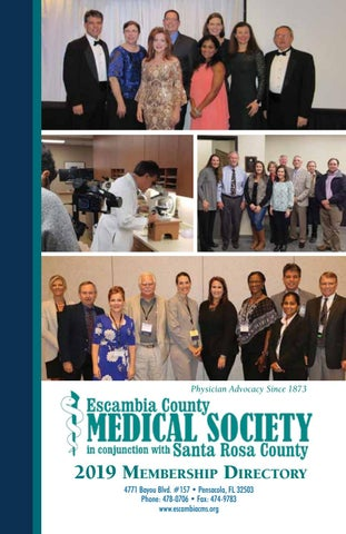 2019 Escambia County Medical Society Membership Directory by