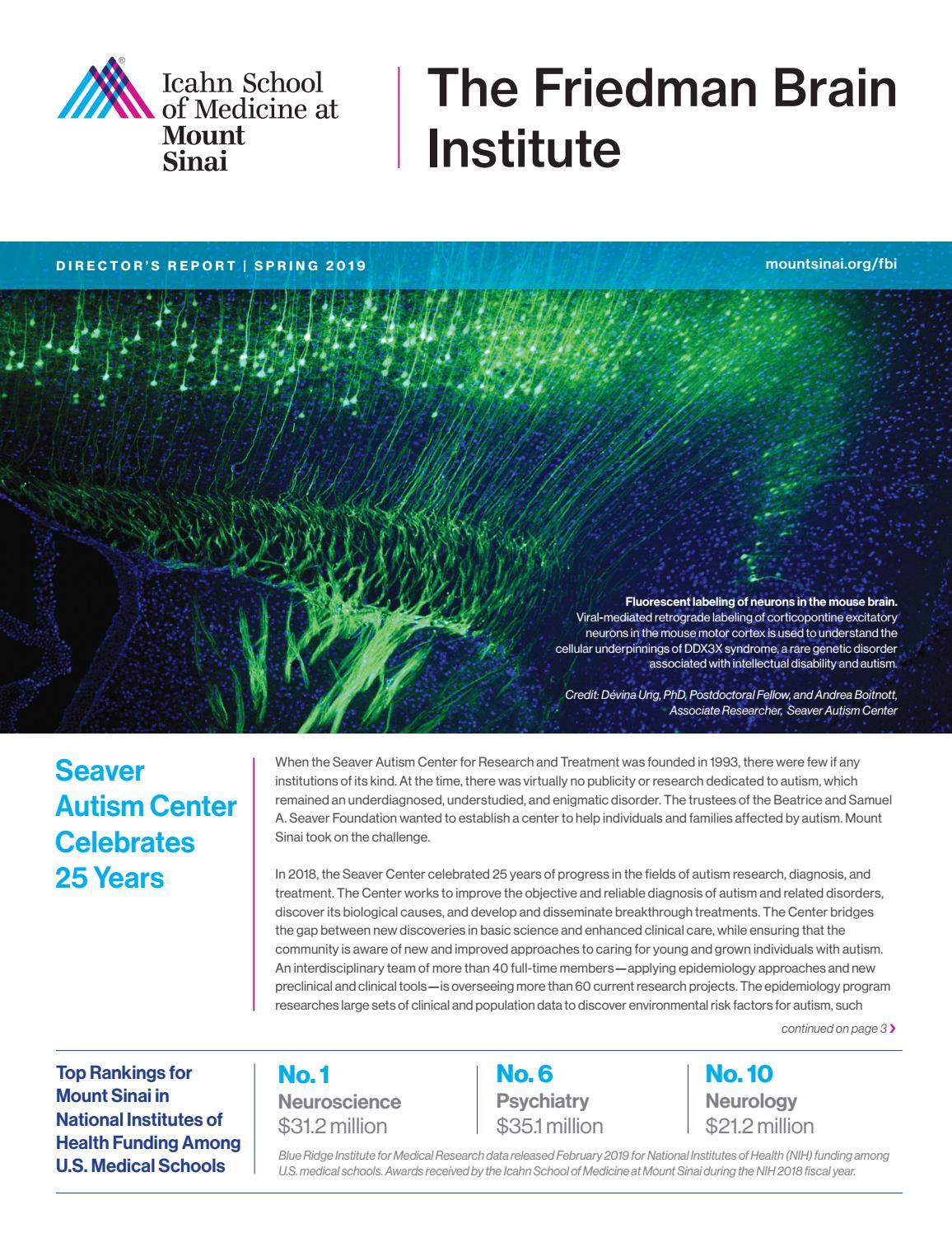 Mount sinai medical center neuroscience