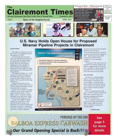 Clairemont Times April 2019 by Clairemont Times - issuu