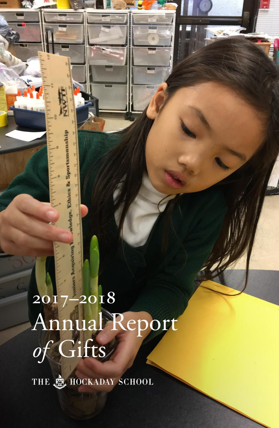 Annual Report 2017-2018 by The Hockaday School - issuu
