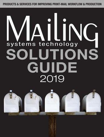2019 Solutions Guide: Mailing Systems Technology by RB