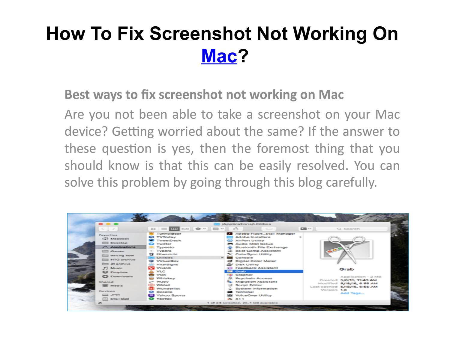 How To Fix Screenshot Not Working On Mac?