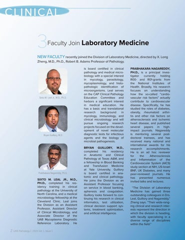 Page 4 of Three Faculty Join Laboratory Medicine
