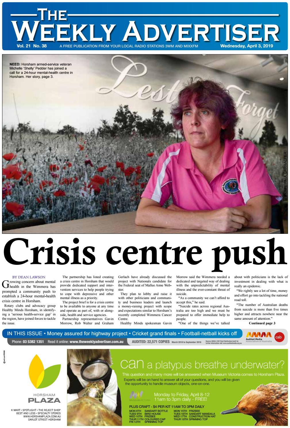 The Weekly Advertiser - Wednesday, April 3, 2019 by The