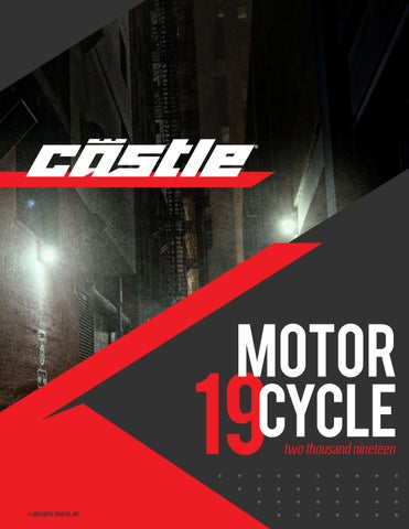 2019 Motorcycle Catalog by Castle X - issuu