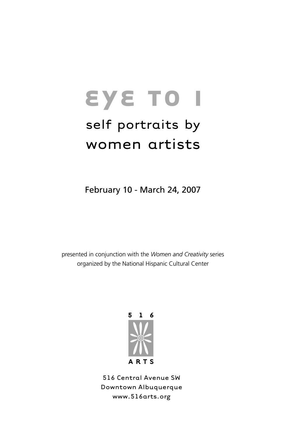 Eye To I Self Portraits By Women Artists By 516arts Issuu