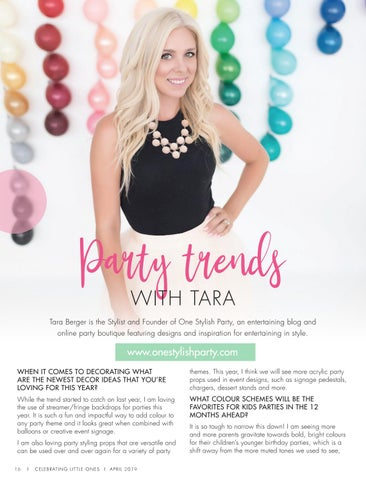 Page 18 of Party Trends with Tara