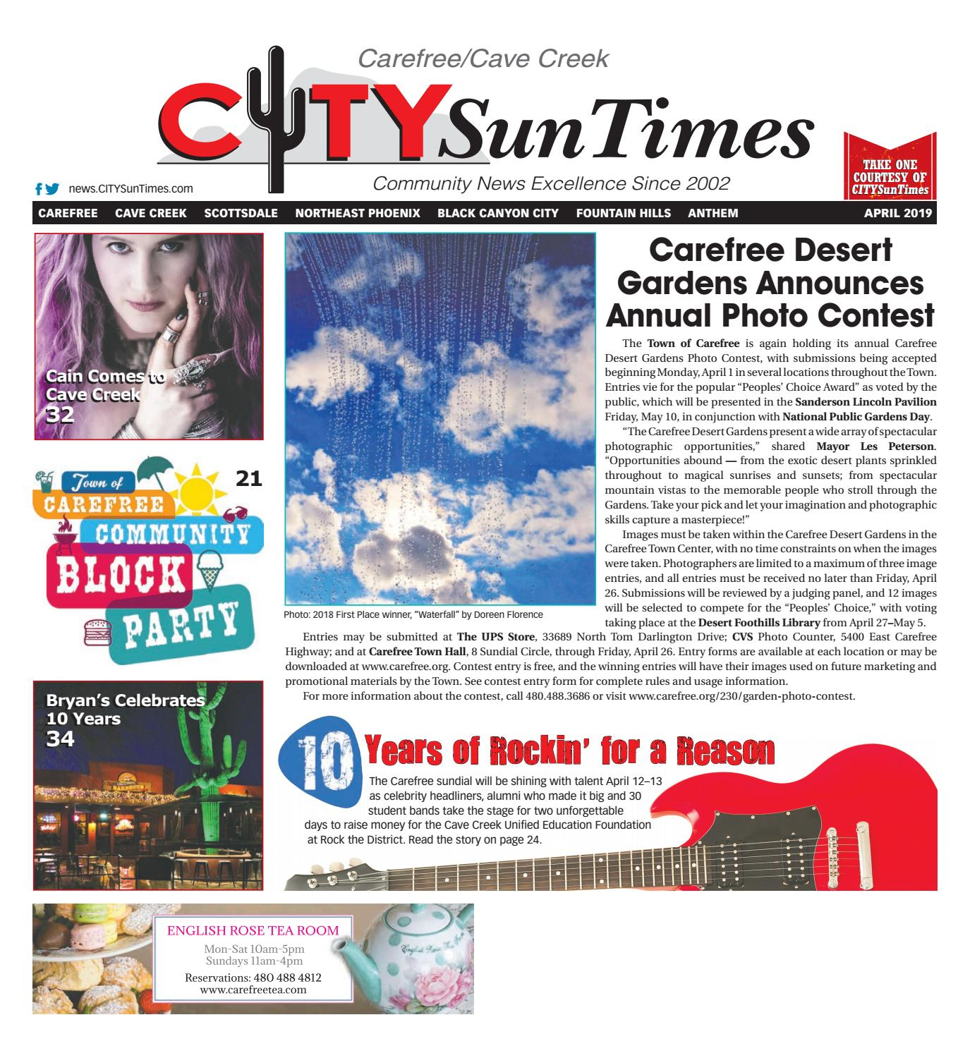 09367ceb6 Carefree Cave Creek April 2019 CITYSunTimes by Jenifer Lee - issuu