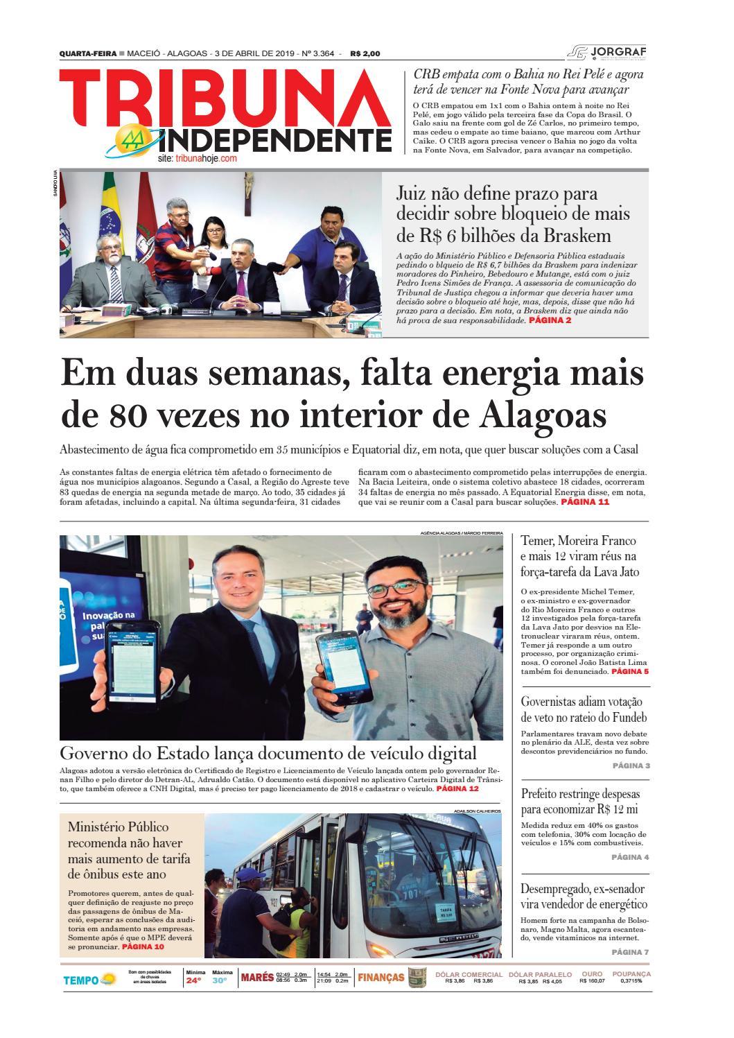 5133d1eba Edição número 3364 – 03 de abril de 2019 by Tribuna Hoje - issuu