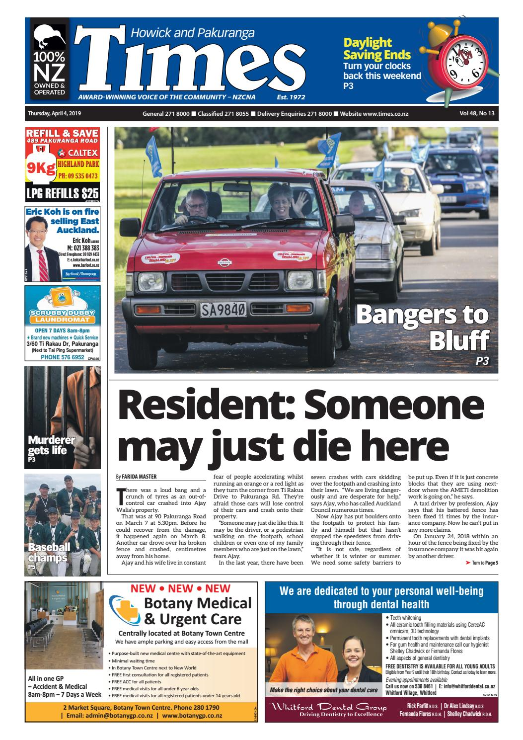 Howick and Pakuranga Times, April 4, 2019 by Times Media - issuu