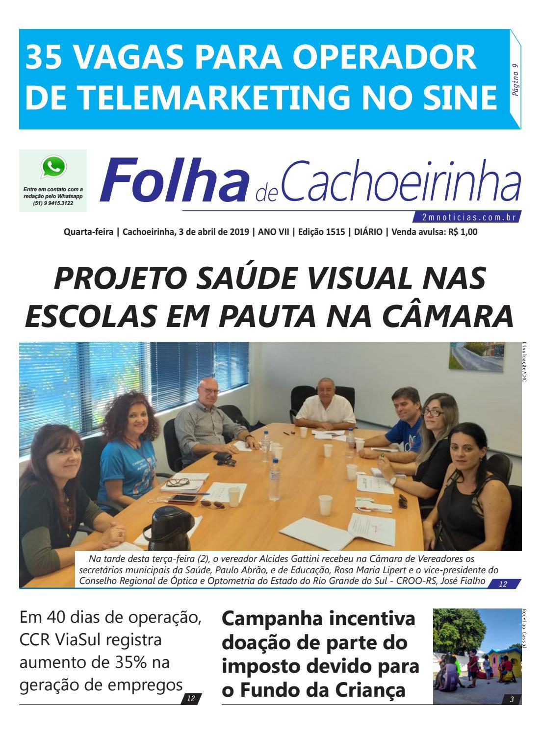 Quarta Feira Cachoeirinha 3 De Abril De 2019 Ano Vii