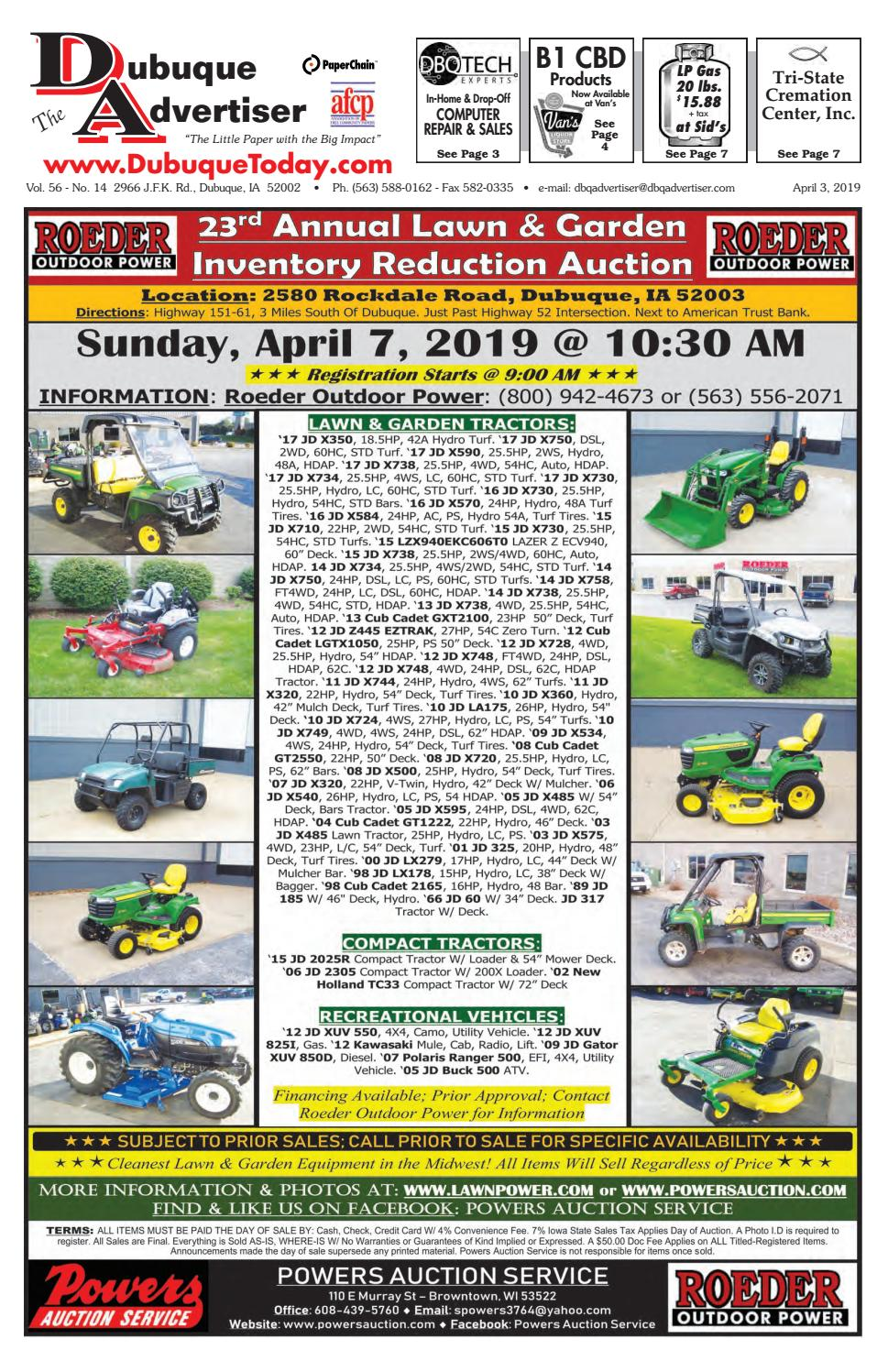 The Dubuque Advertiser April 3, 2019 by The Dubuque Advertiser - issuu