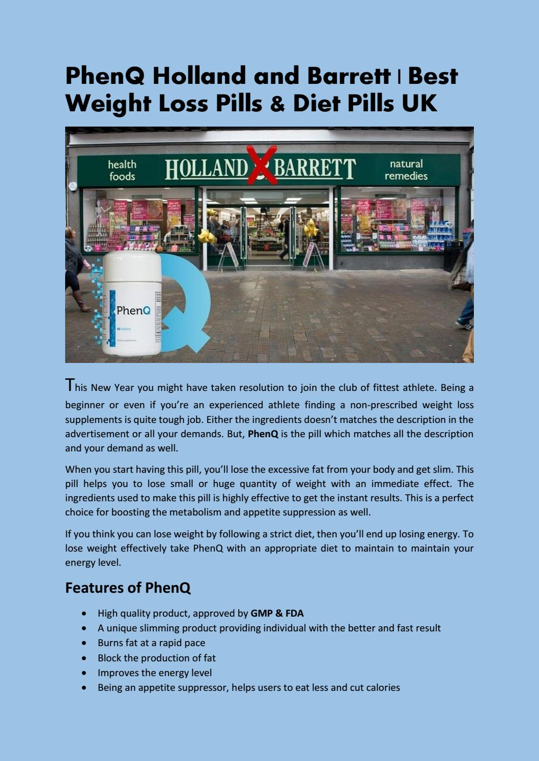 Phenq Holland And Barrett ǀ Best Fat Burner And Weight Loss Pill Uk