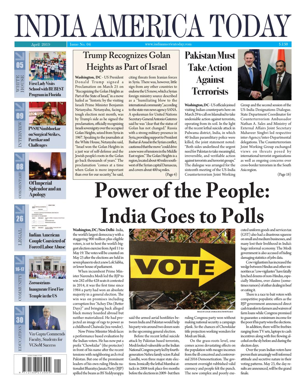 India America Today Issue: 04 April 2019 by