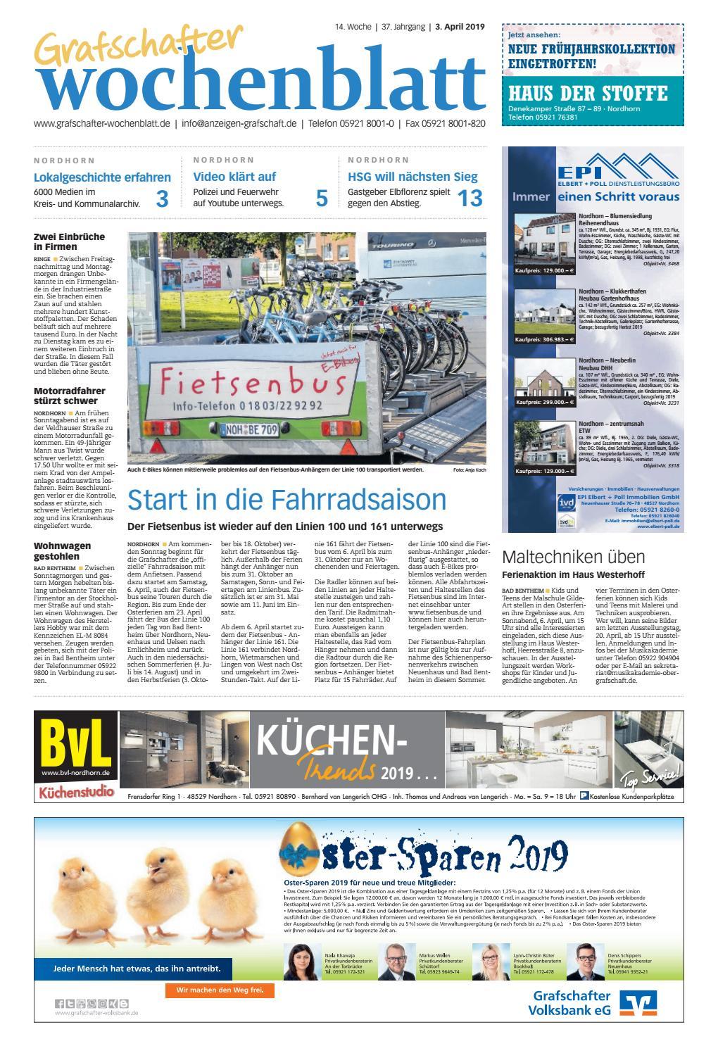 ba7ff9985cf140 Grafschafter Wochenblatt 03-04-2019 by Grafschafter Nachrichten - issuu