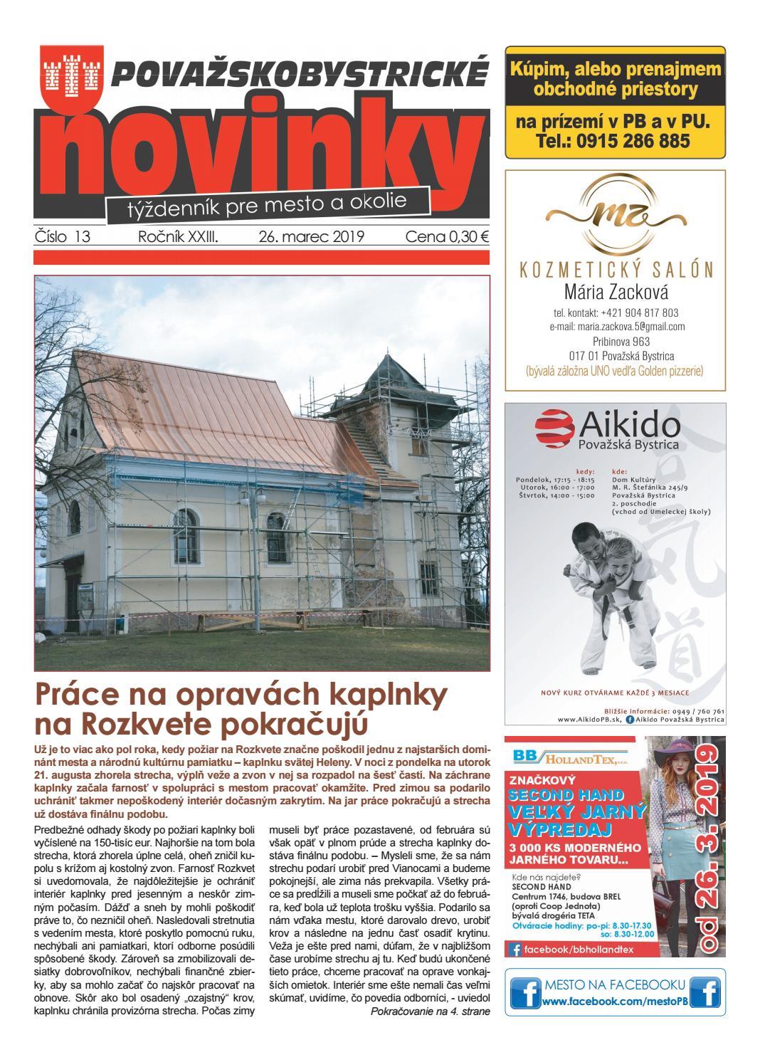 04ceba51e Považskobystrické novinky č. 13/2019 by Považskobystrické novinky - issuu