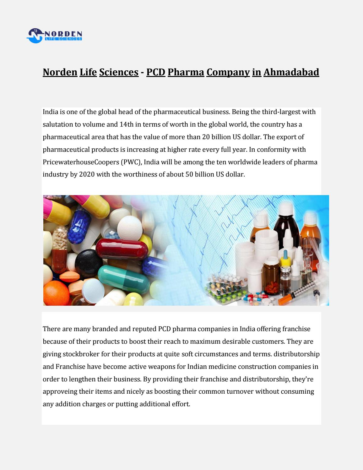 Franchise pharma company|Norden Life Sciences by nordenlifes - issuu