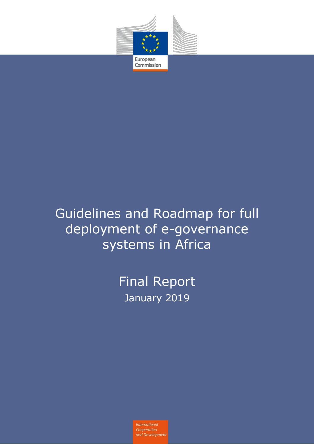 Guidelines and Roadmap for full deployment of e-governance