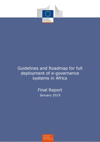 Guidelines and Roadmap for full deployment of e-governance systems