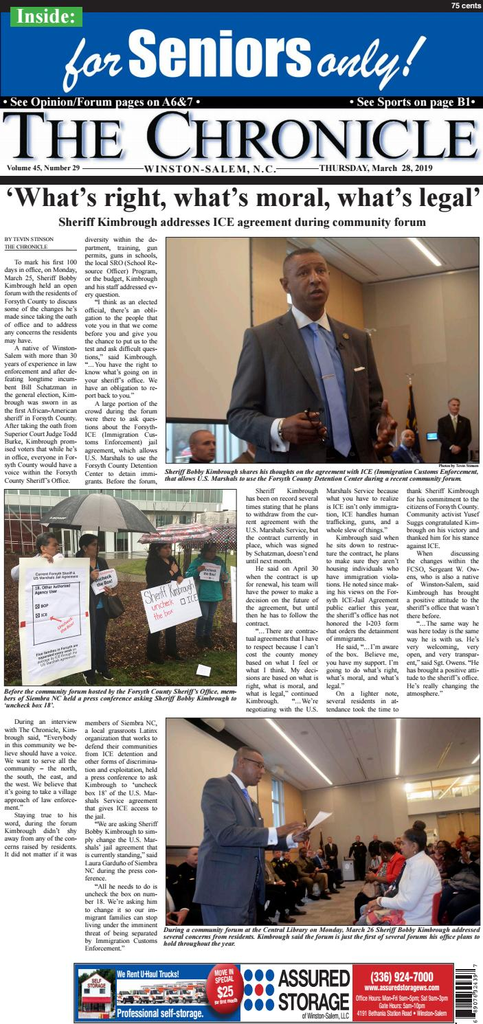 March 28, 2019 by The Chronicle of Winston-Salem - issuu