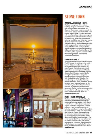 Page 51 of Where To Stay: Stone Town