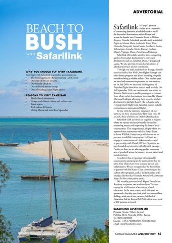 Page 67 of Advertorial: Bush To Beach With Safarilink