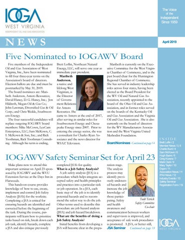 April 2019 IOGA News by Diane Slaughter - issuu