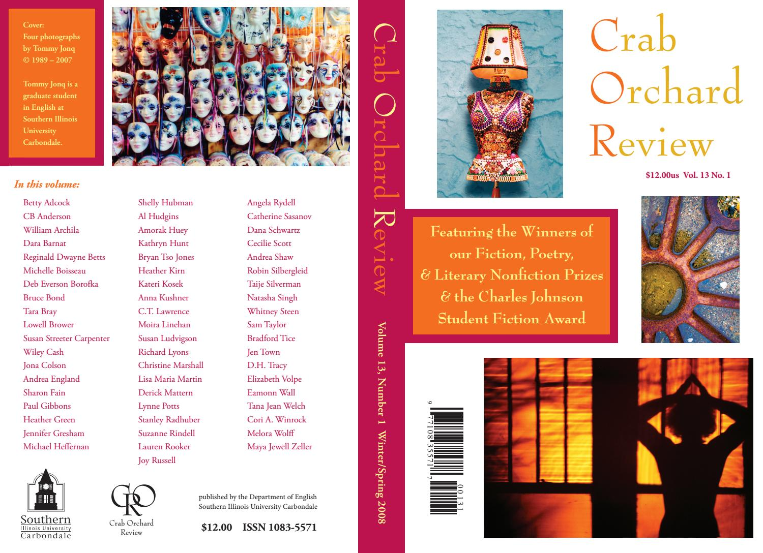 b360574eb8c5f Crab Orchard Review Vol 13 No 1 W/S 2008 by Crab Orchard Review - issuu