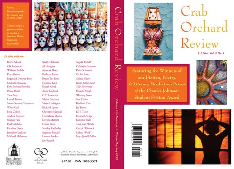 f1ce9ca8273 Crab Orchard Review Vol 13 No 1 W S 2008 by Crab Orchard Review - issuu