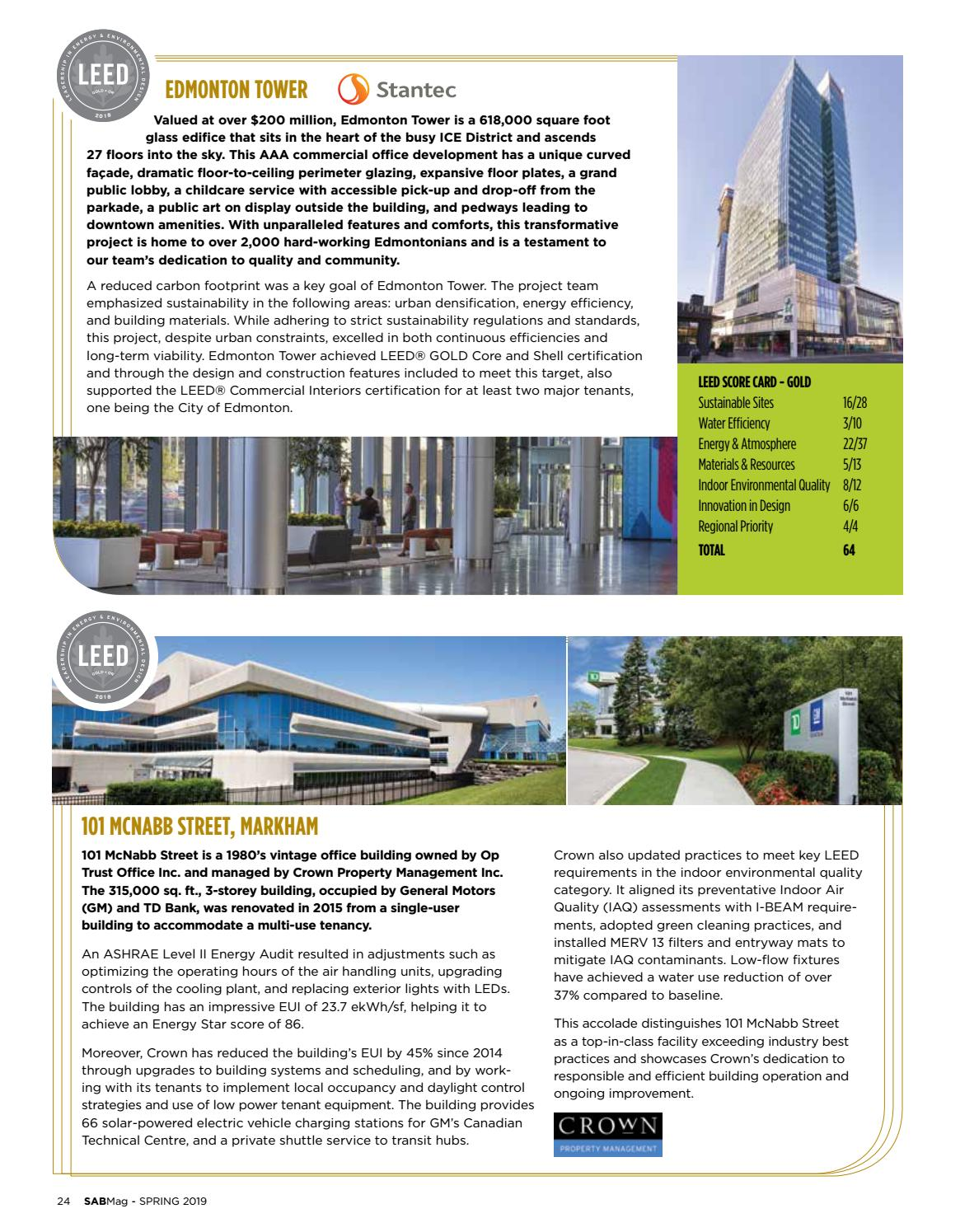 The 2018 LEED Year in Review by SAB Magazine - issuu