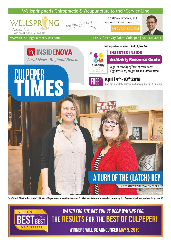 Culpeper Time - April 4-10, 2019 by InsideNoVa - issuu