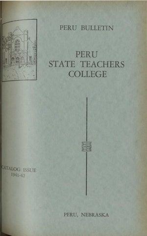 1941-1942 Catalog of Peru State Teachers College (Nebraska