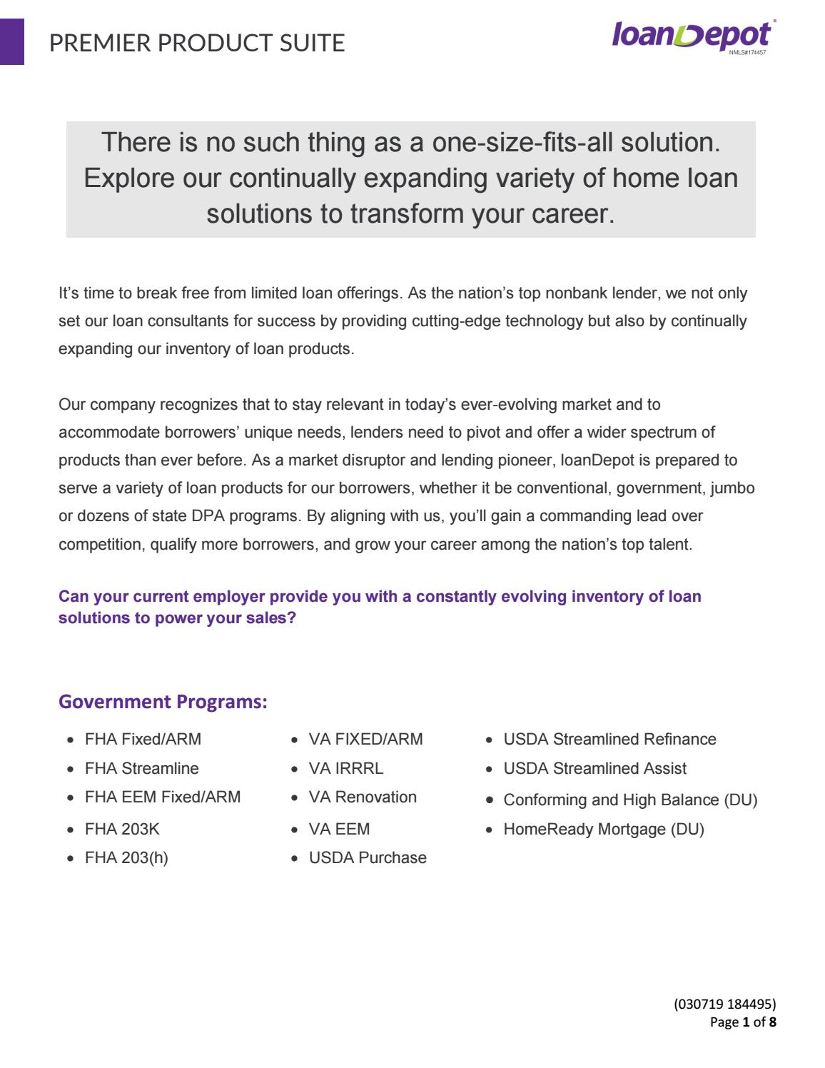 Program Overview by loanDepot - issuu
