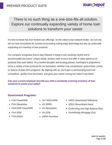 Program Overview By Loandepot Issuu