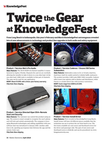 Page 14 of KnowledgeFest Show Coverage: Twice the Gear