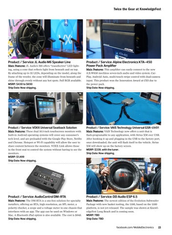 Page 15 of KnowledgeFest Show Coverage: Twice the Gear