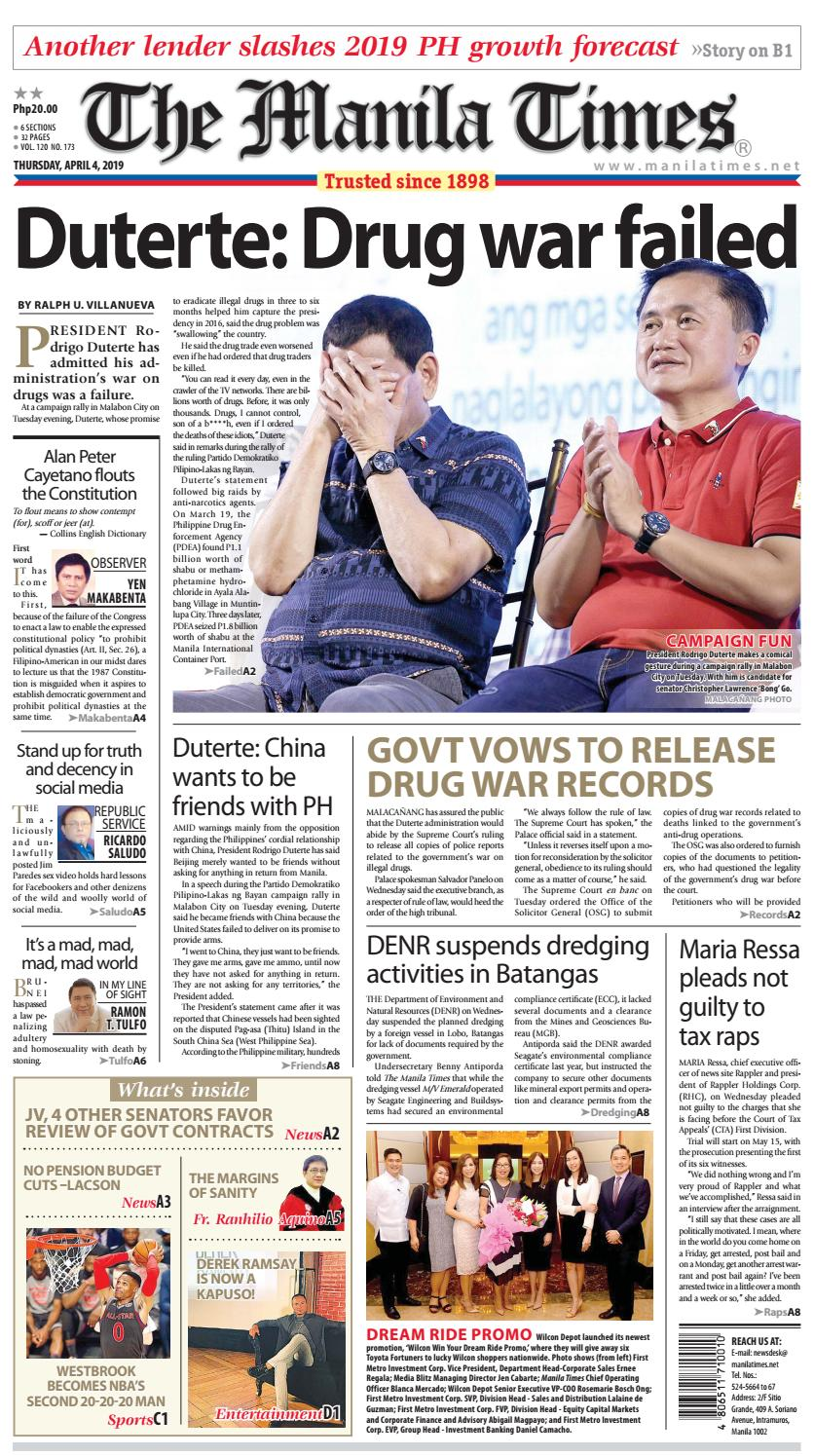 The Manila Times April 04 2019 By The Manila Times Issuu