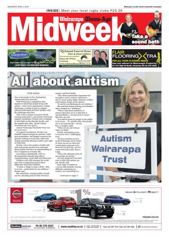 It Is Time To Revive Autism Movement >> Wairarapa Midweek Wed 3rd April By Wairarapa Times Age Issuu