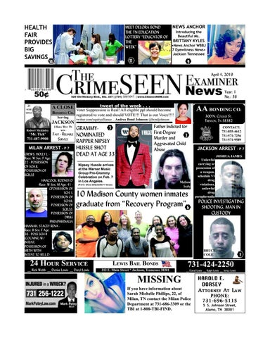 The CrimeSEEN Examiner News April 4, 2019 by CrimeSEEN