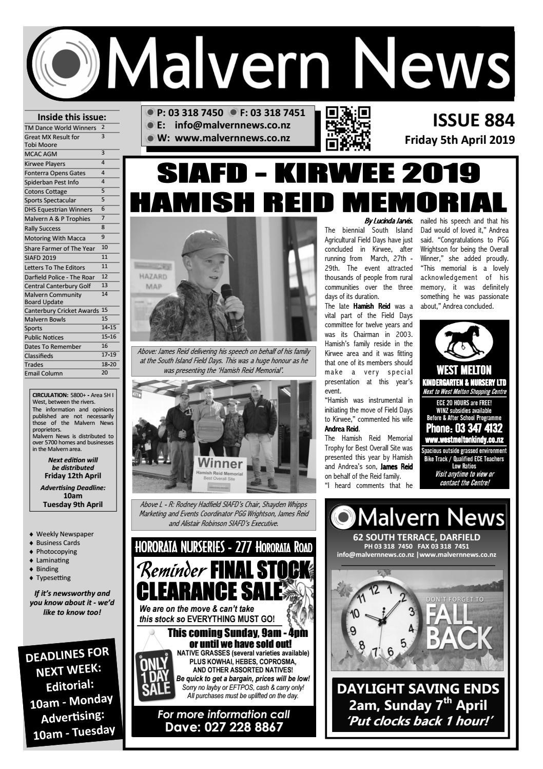 Issue 884 - Friday 5th April 2019 by Malvern News - issuu