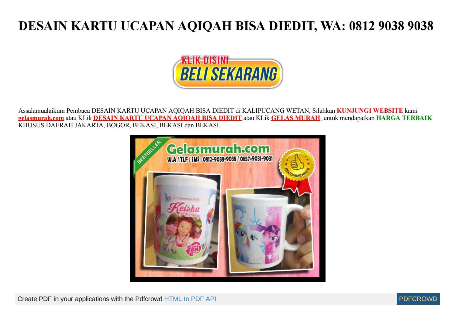 Desain Kartu Aqiqah Online - kartu ucapan souvenir