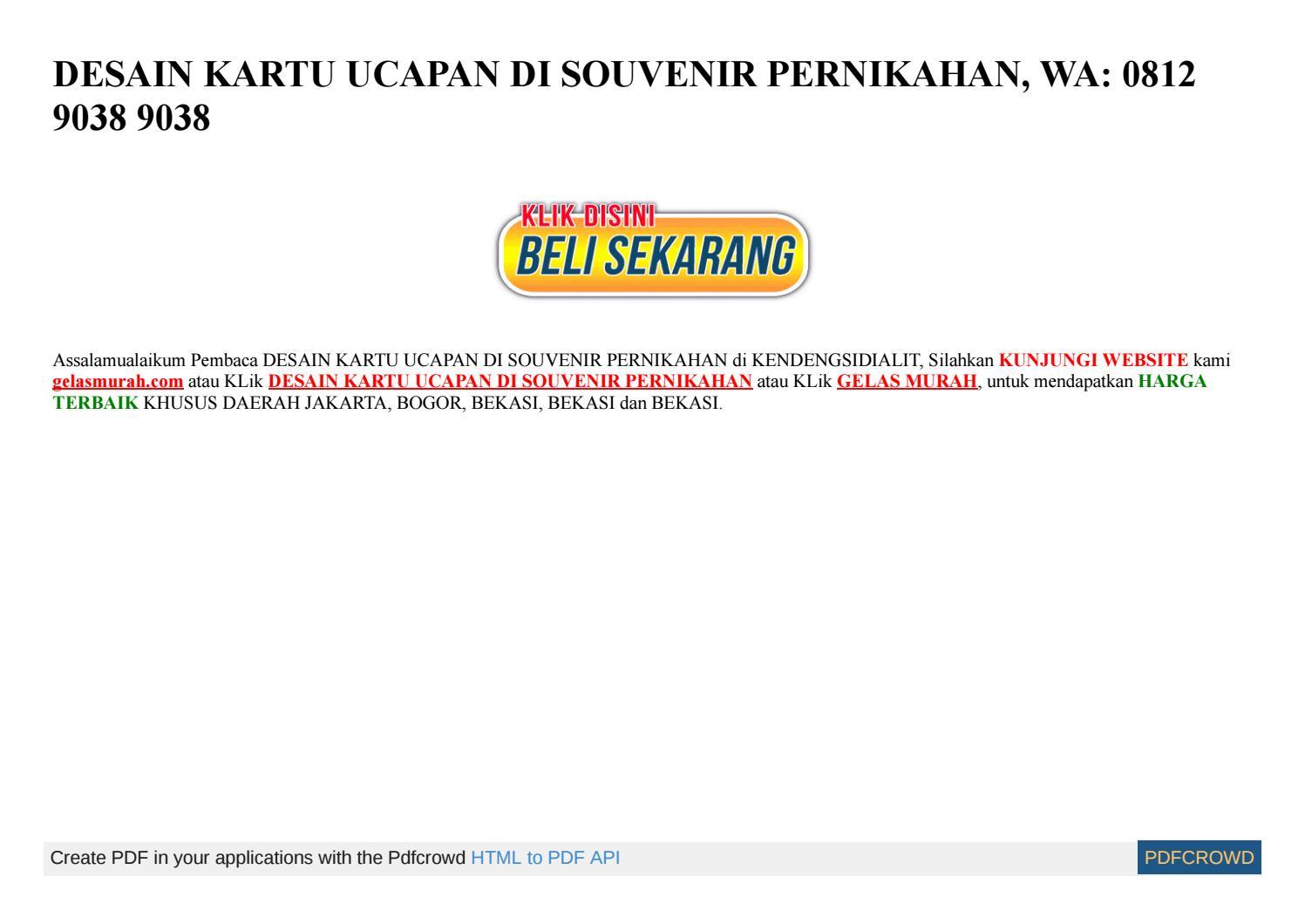 Download Template Ucapan Souvenir Pernikahan