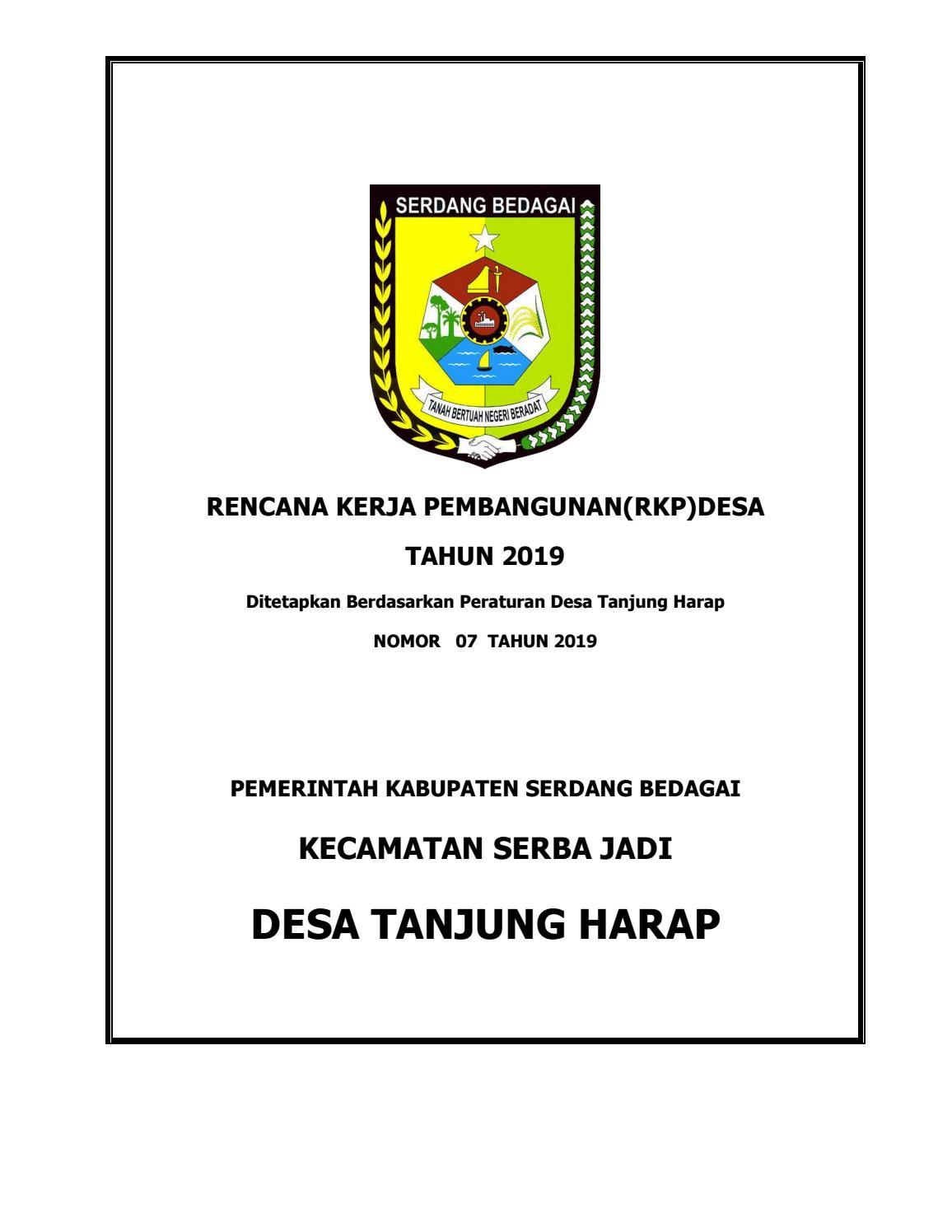 Rkpdesa Tanjung Harap T A 2019 By Tanjung Harap Issuu